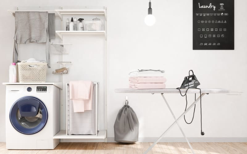 Ideas For Organizing The Laundry And Ironing Room